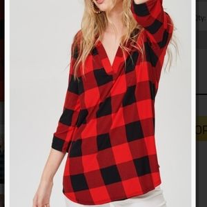 Black and Red Buffalo Plaid Tunic
